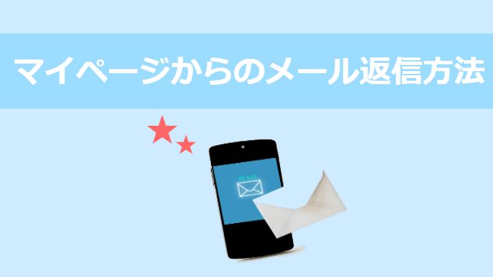 マイページからのメール返信方法