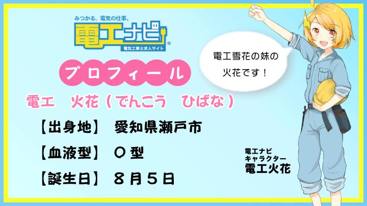 電工 雪花ちゃんの妹『電工火花ちゃん』登場!!